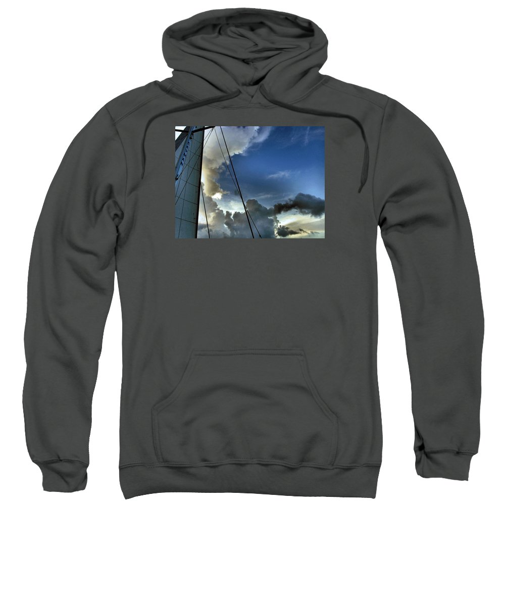 Cayman Sweatshirt featuring the photograph Cayman Nite Sky by Francine Mabie
