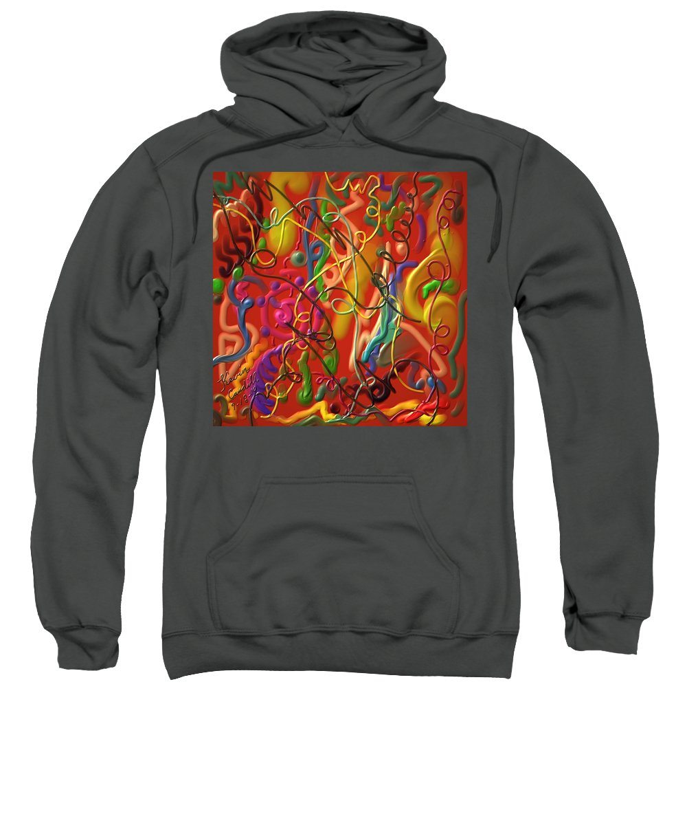 Abstract Sweatshirt featuring the painting Celebrate The Moment by Kevin Caudill