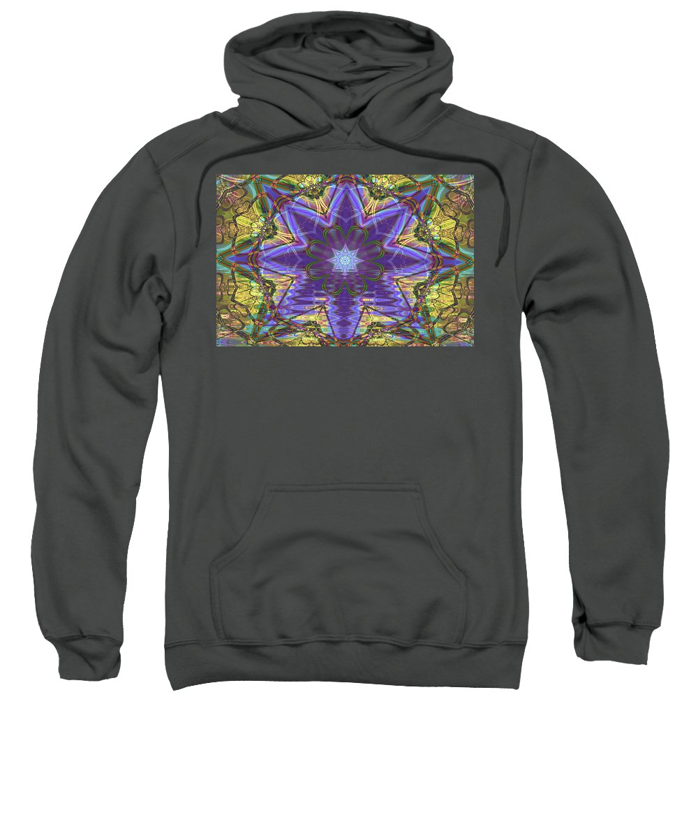 Abstract Sweatshirt featuring the digital art Celtic Knot by Frederic Durville