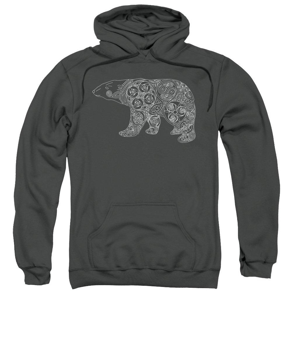 Artoffoxvox Sweatshirt featuring the photograph Celtic Polar Bear by Kristen Fox