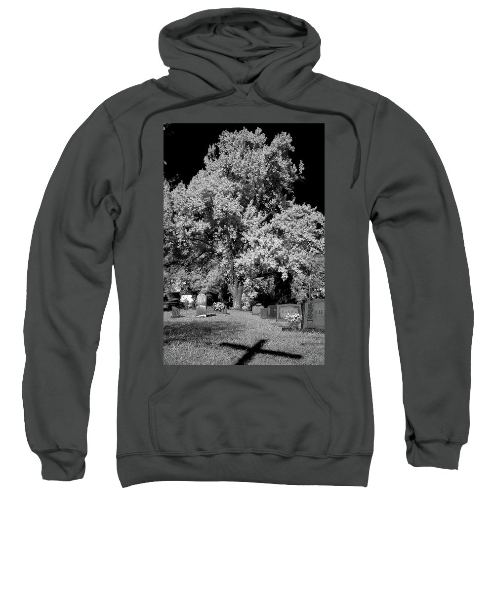 Cemetery Sweatshirt featuring the photograph Cemetery Infrared by Kevin Work