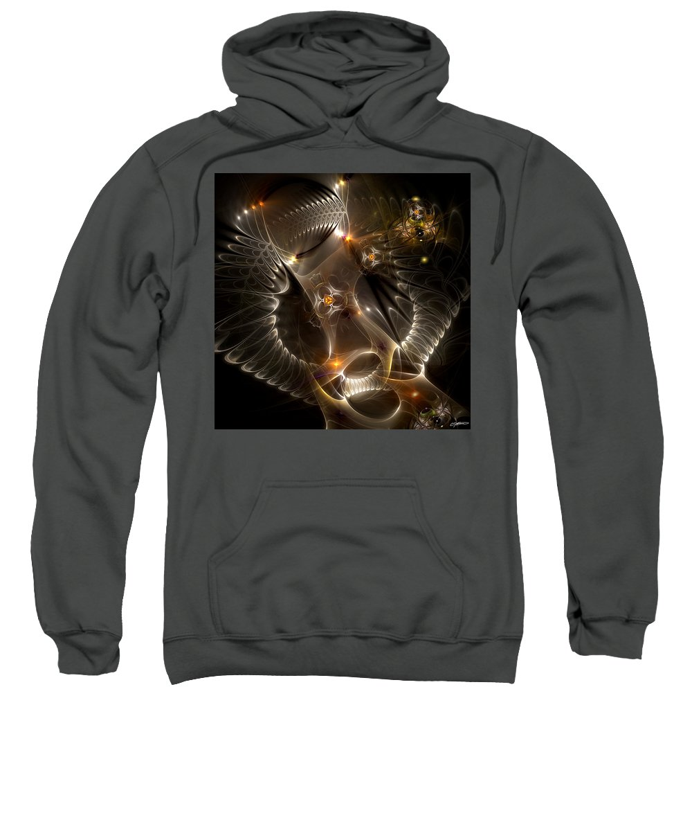 Abstract Sweatshirt featuring the digital art Cenogenesis by Casey Kotas