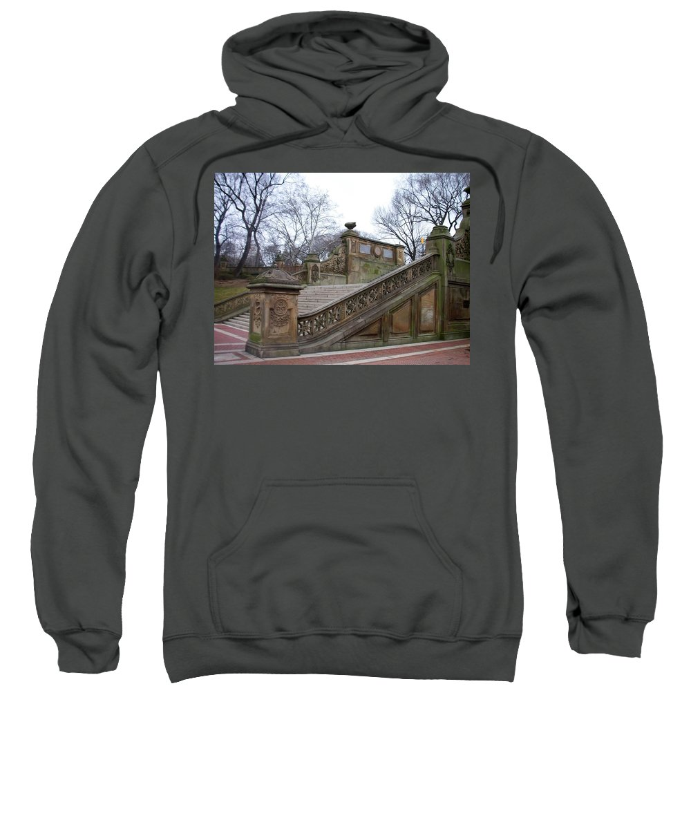 Central Park Sweatshirt featuring the photograph Central Park Bethesda 1 by Anita Burgermeister