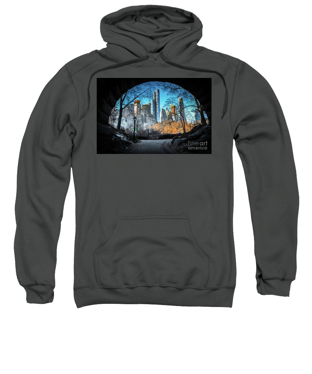 Central Park Sweatshirt featuring the photograph Central View by Rjd Photography