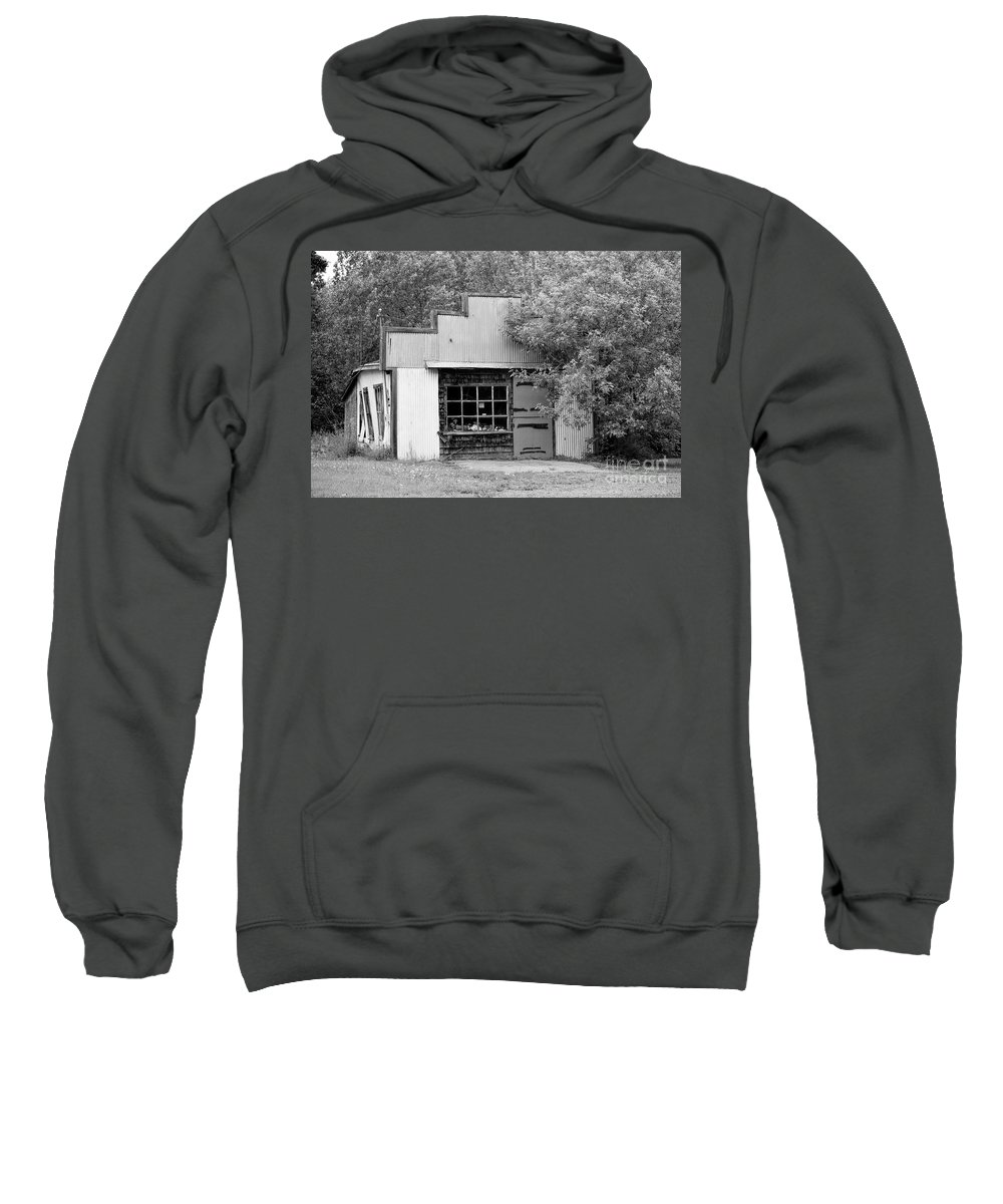 Storefront Sweatshirt featuring the photograph Century Old Storefront by William Tasker
