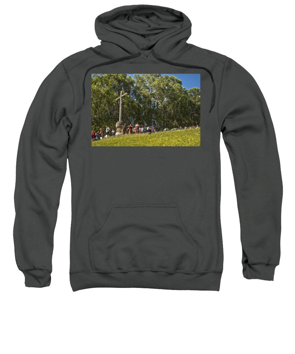 Cerro De La Cruz Sweatshirt featuring the photograph Cerro De La Cruz - Antigua Guatemala Hdr Iv by Totto Ponce