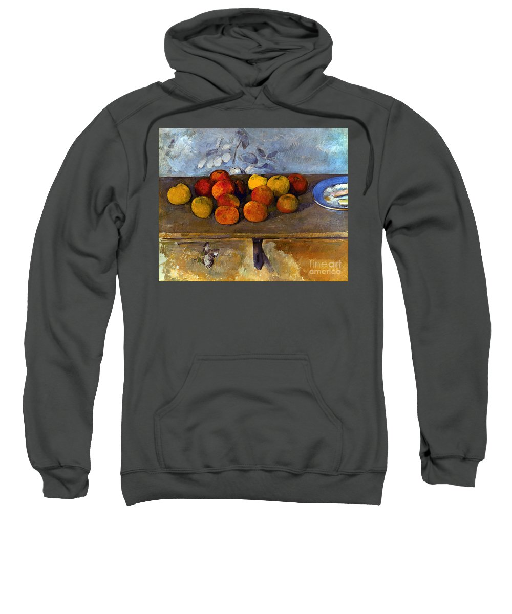 1880 Sweatshirt featuring the photograph Cezanne: Apples & Biscuits by Granger