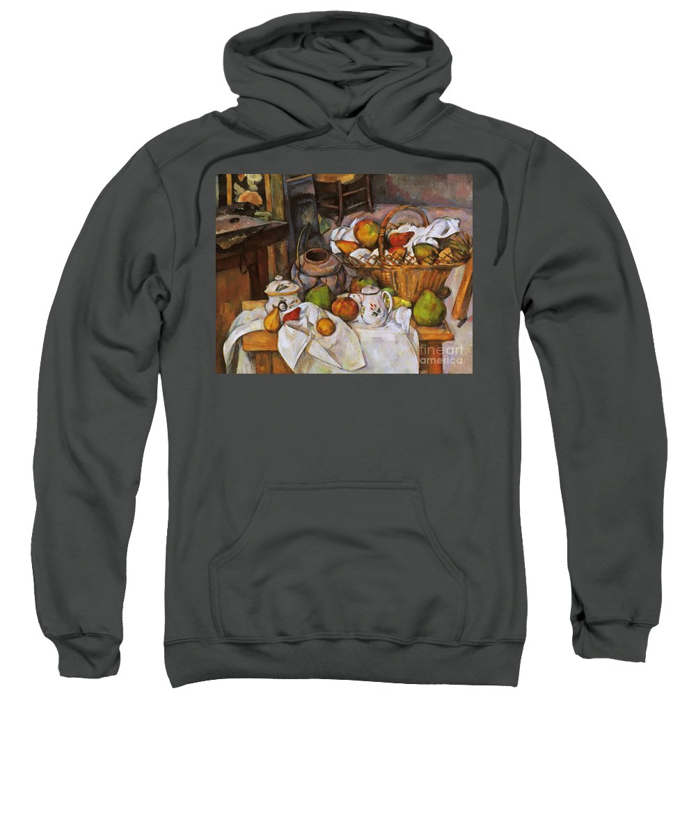 1890 Sweatshirt featuring the photograph Cezanne: Table, 1888-90 by Granger