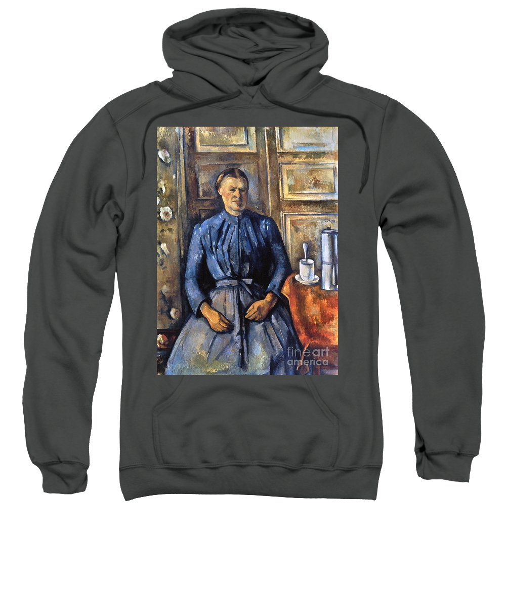 1895 Sweatshirt featuring the photograph Cezanne: Woman, 1890-95 by Granger