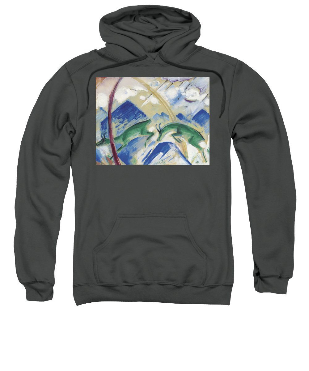 Marc Sweatshirt featuring the painting Chamois by Franz Marc