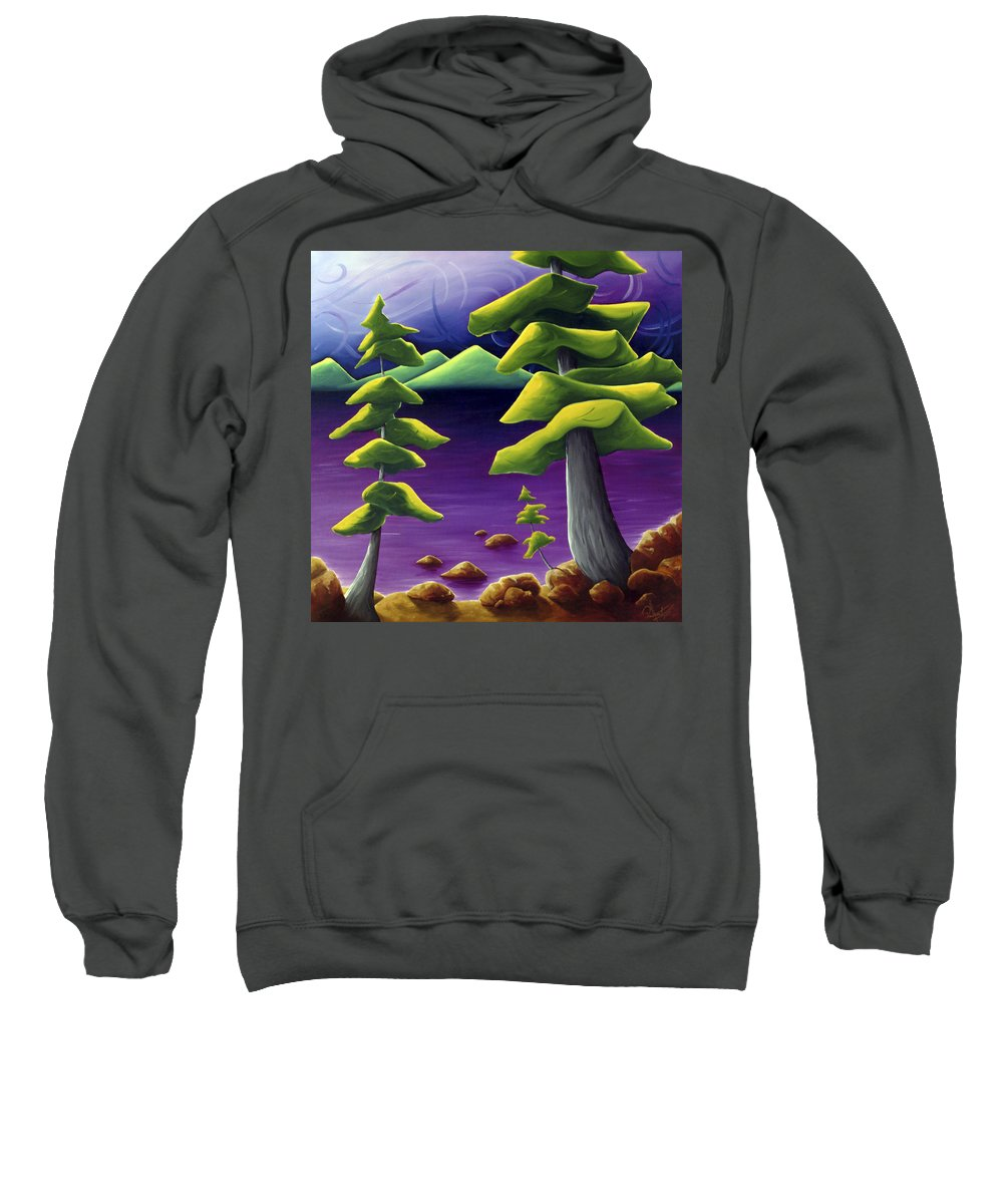 Landscape Sweatshirt featuring the painting Change Of Pace by Richard Hoedl