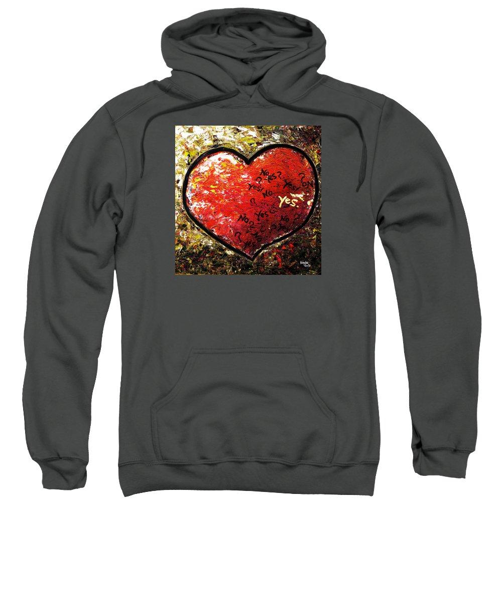 Pop Sweatshirt featuring the painting Chaos In Heart by Hiroko Sakai