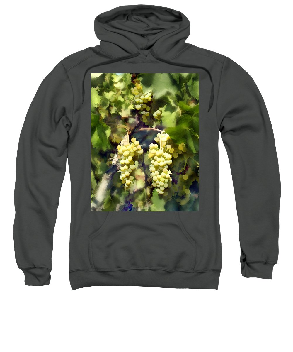 Chardonnay Sweatshirt featuring the photograph Chardonnay by Kurt Van Wagner