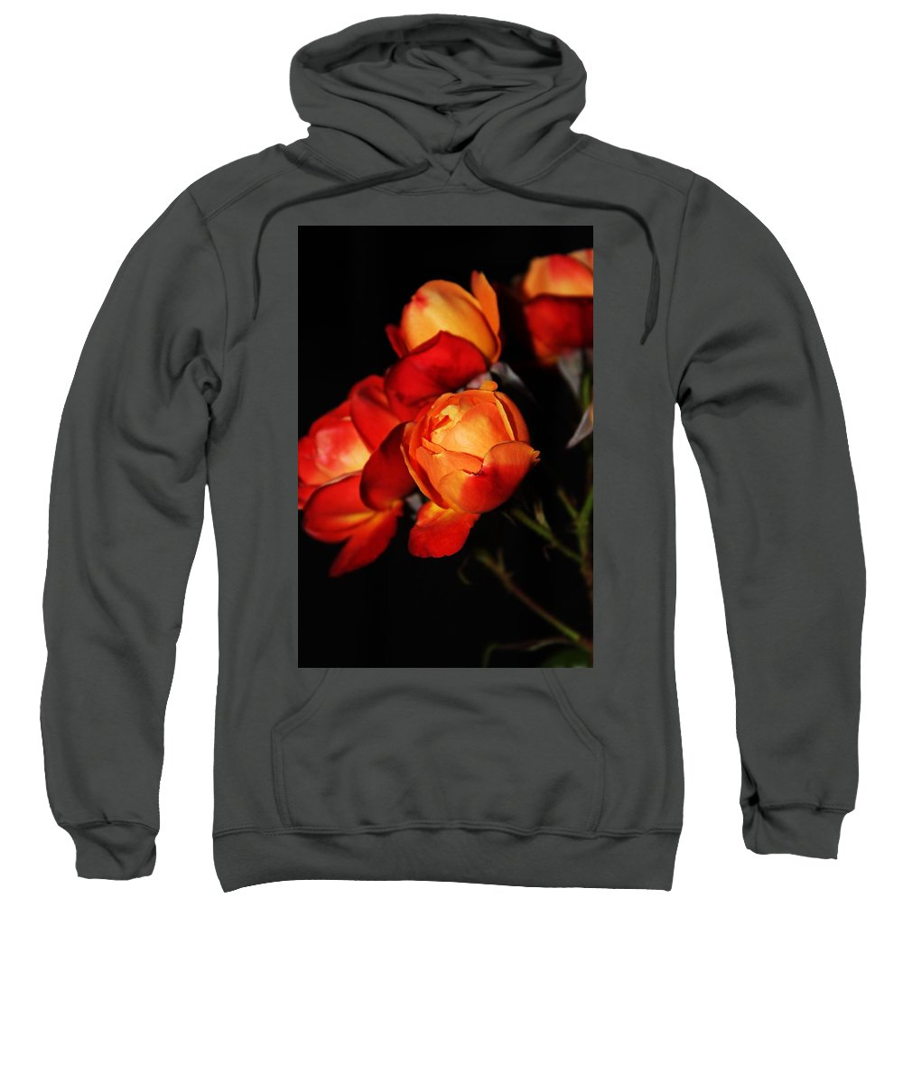 Charisma Roses Sweatshirt featuring the photograph Charisma Roses 4 by LKB Art and Photography