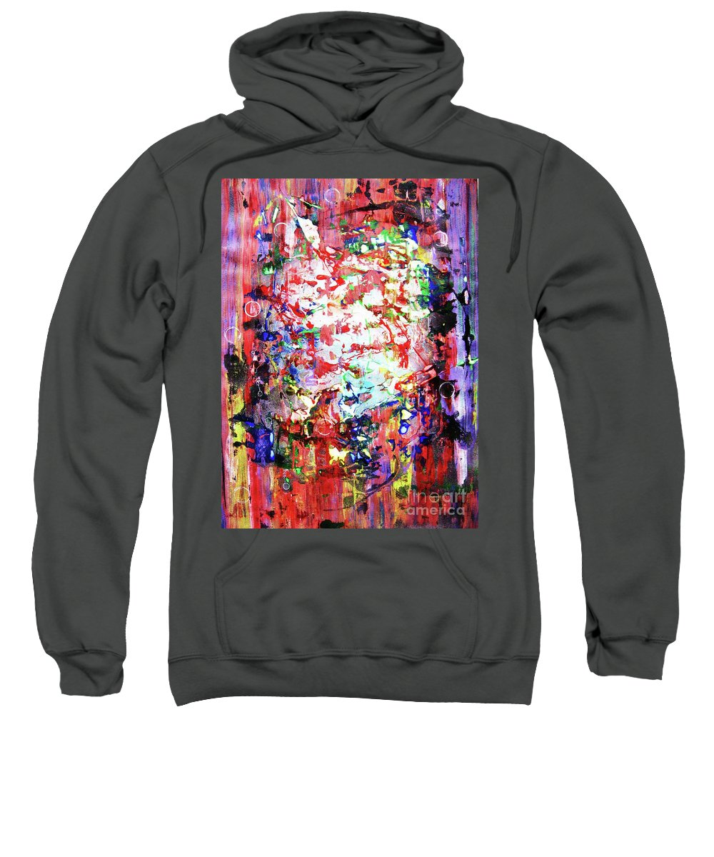 Abstraction Sweatshirt featuring the painting Charivari by Roberto Prusso