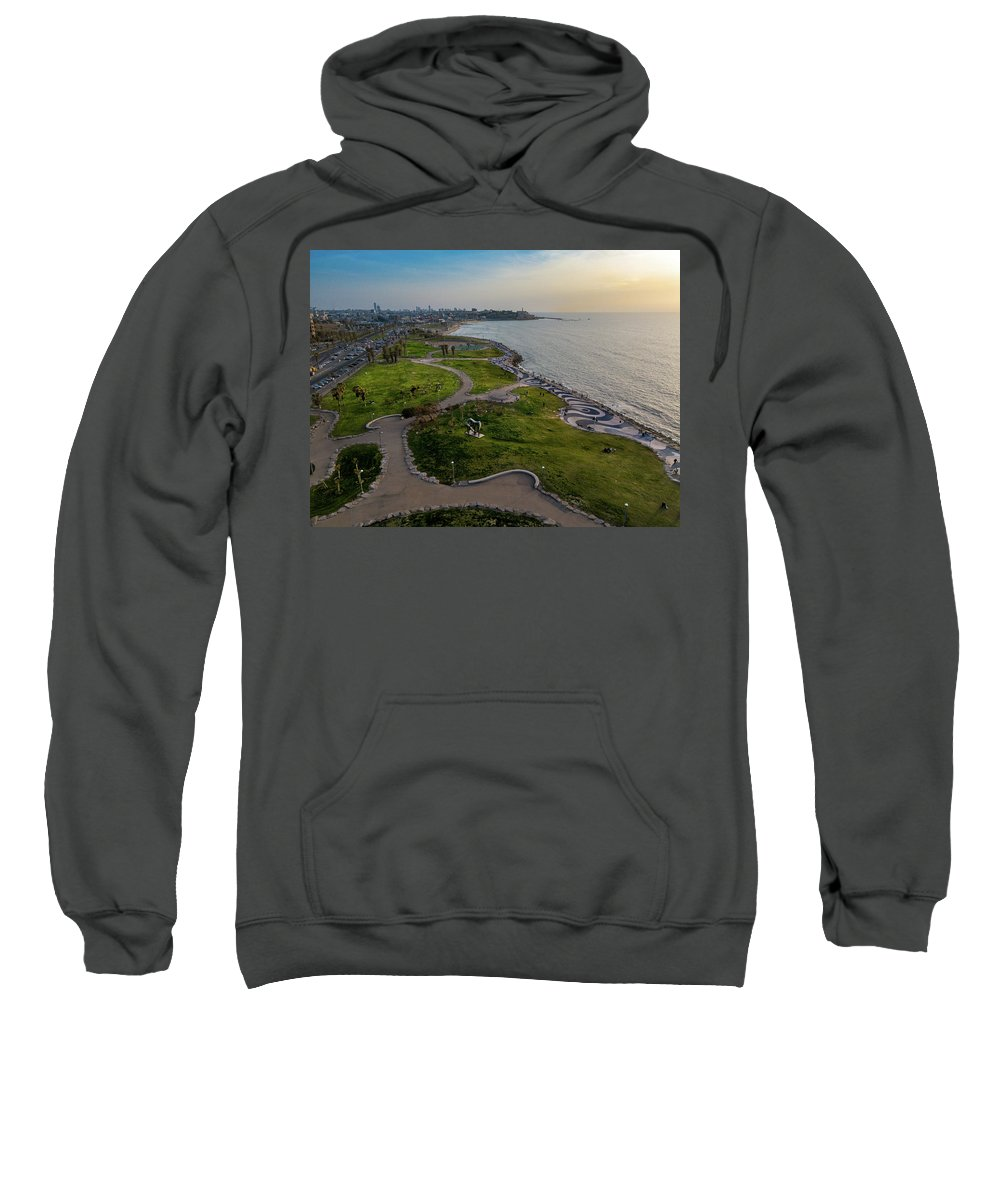 Israel Sweatshirt featuring the photograph Charles Clore Park by Josh Parrish