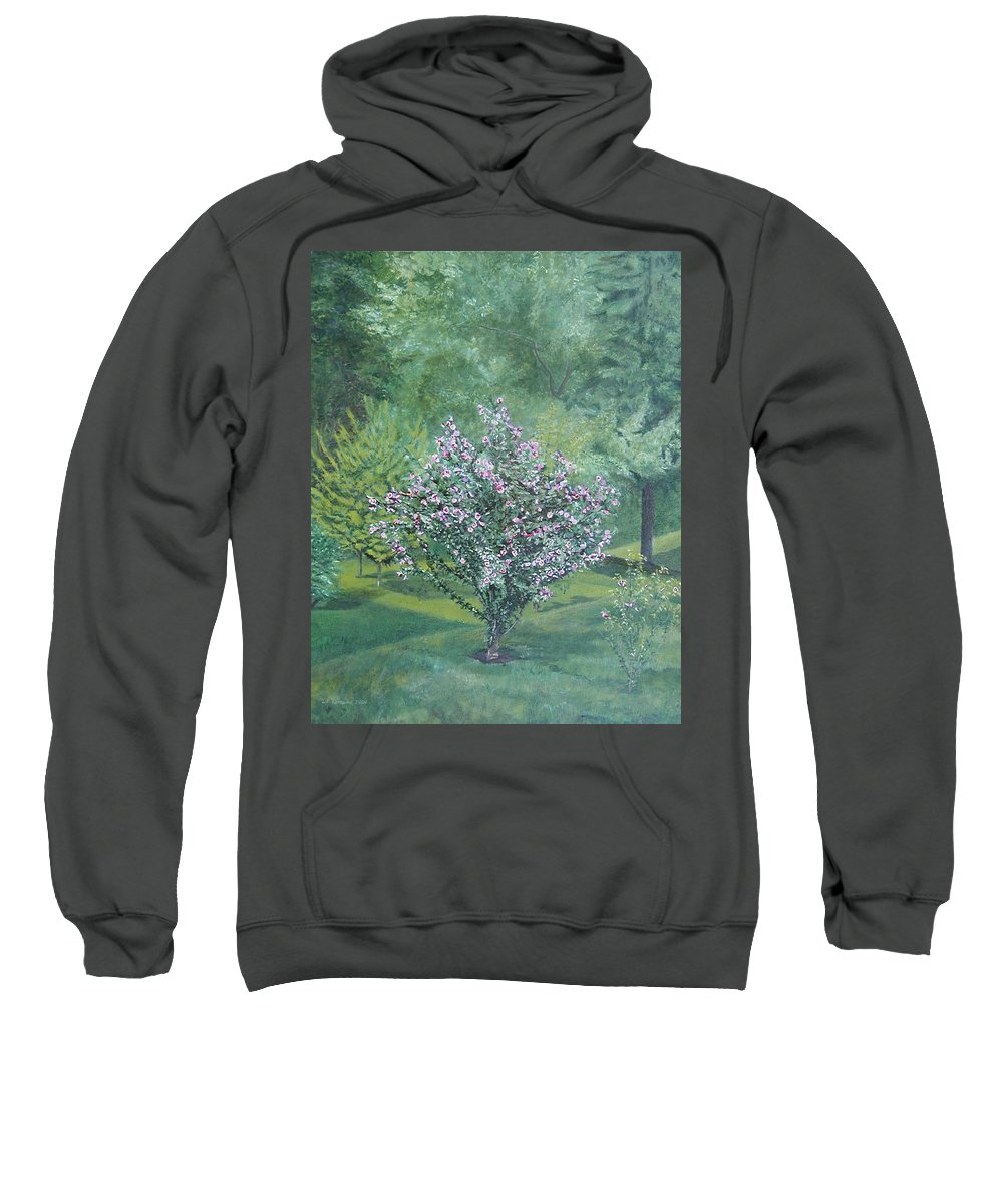 Blooming Sweatshirt featuring the painting Charles Street by Leah Tomaino