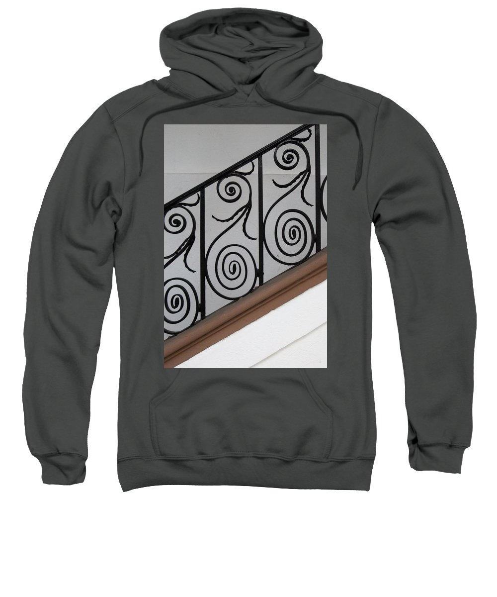 Sweatshirt featuring the photograph Charleston Ironworks by Sally Falkenhagen