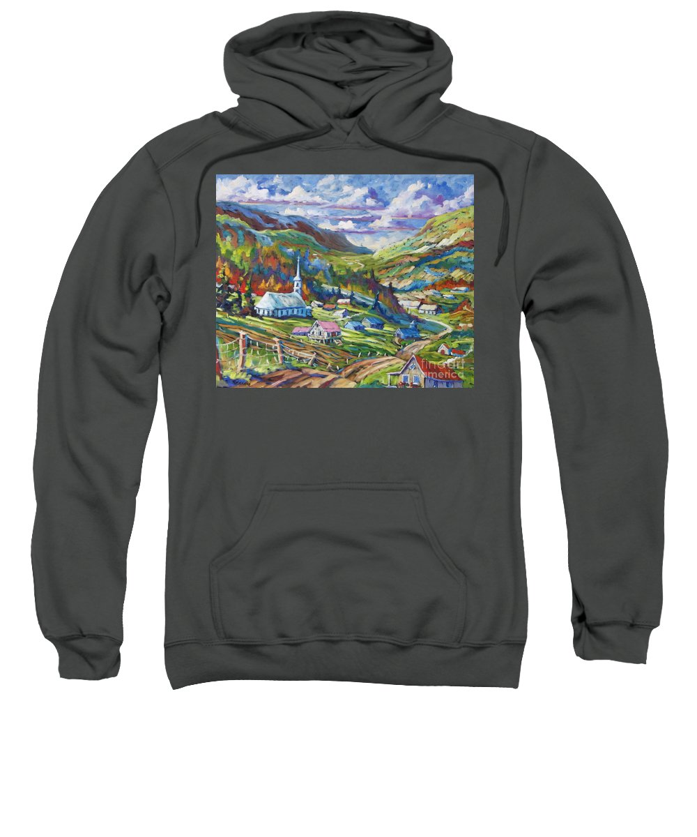 Charlevoix Sweatshirt featuring the painting Charlevoix Inspiration by Richard T Pranke