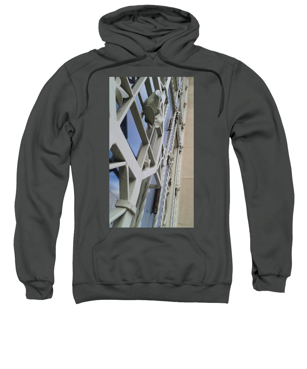 Architecture Sweatshirt featuring the photograph Chasing Lines by Rachael Lahar
