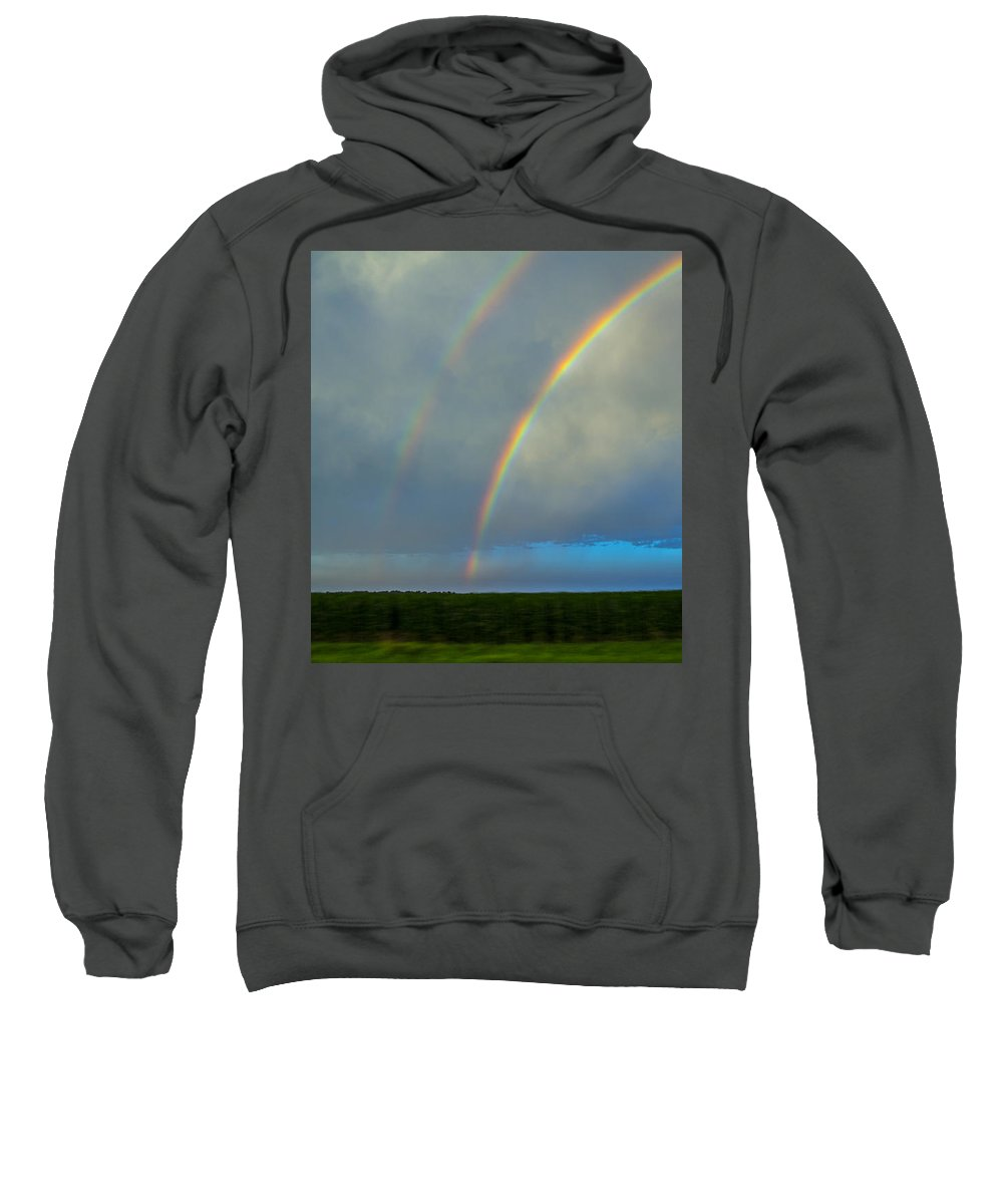Nebraskasc Sweatshirt featuring the photograph Chasing Nebraska Lightning 004 by NebraskaSC