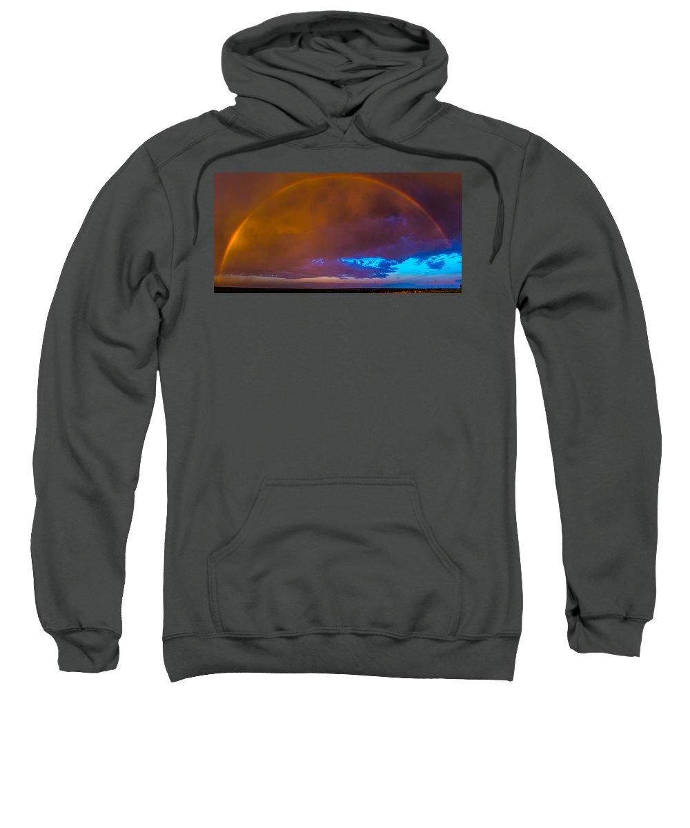 Nebraskasc Sweatshirt featuring the photograph Chasing Nebraska Lightning 005 by NebraskaSC