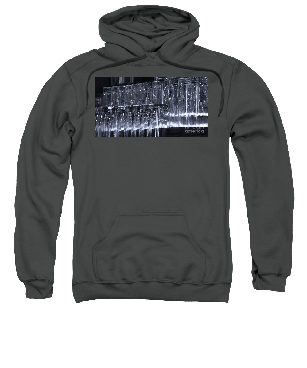 Tombstone Sweatshirt featuring the photograph Chasing Waterfalls - Blue by Linda Shafer