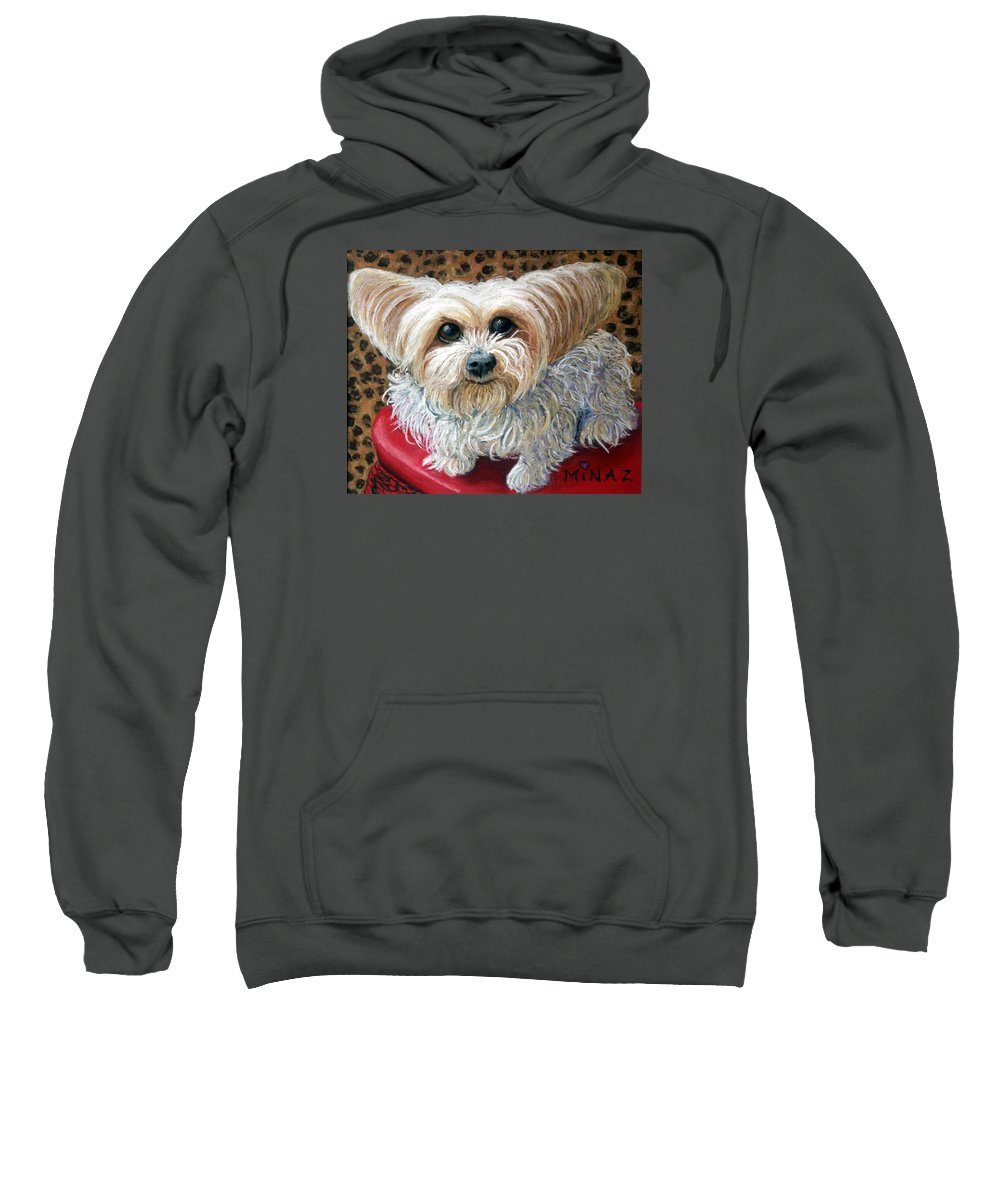Dog Sweatshirt featuring the painting My Friend by Minaz Jantz