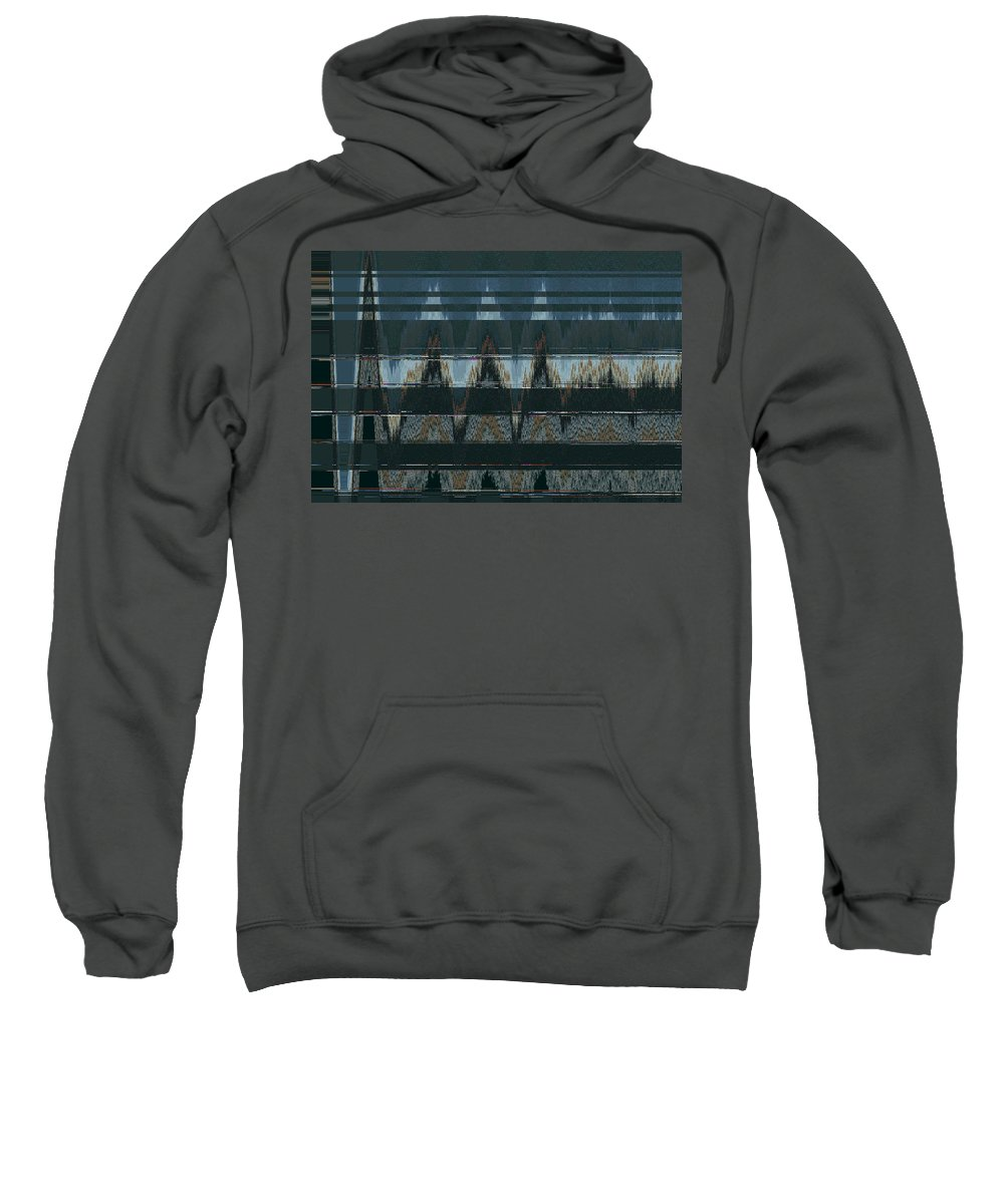 Abstract Sweatshirt featuring the digital art Cherokee Nation by Lenore Senior