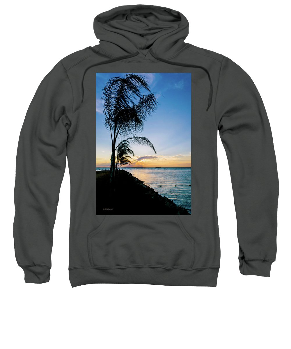 2d Sweatshirt featuring the photograph Chesapeake Sunset - Full Color by Brian Wallace