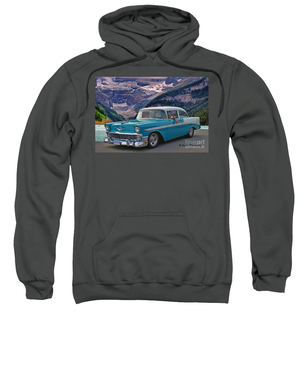 Cars Sweatshirt featuring the photograph Chevy At Lake Louise by Randy Harris
