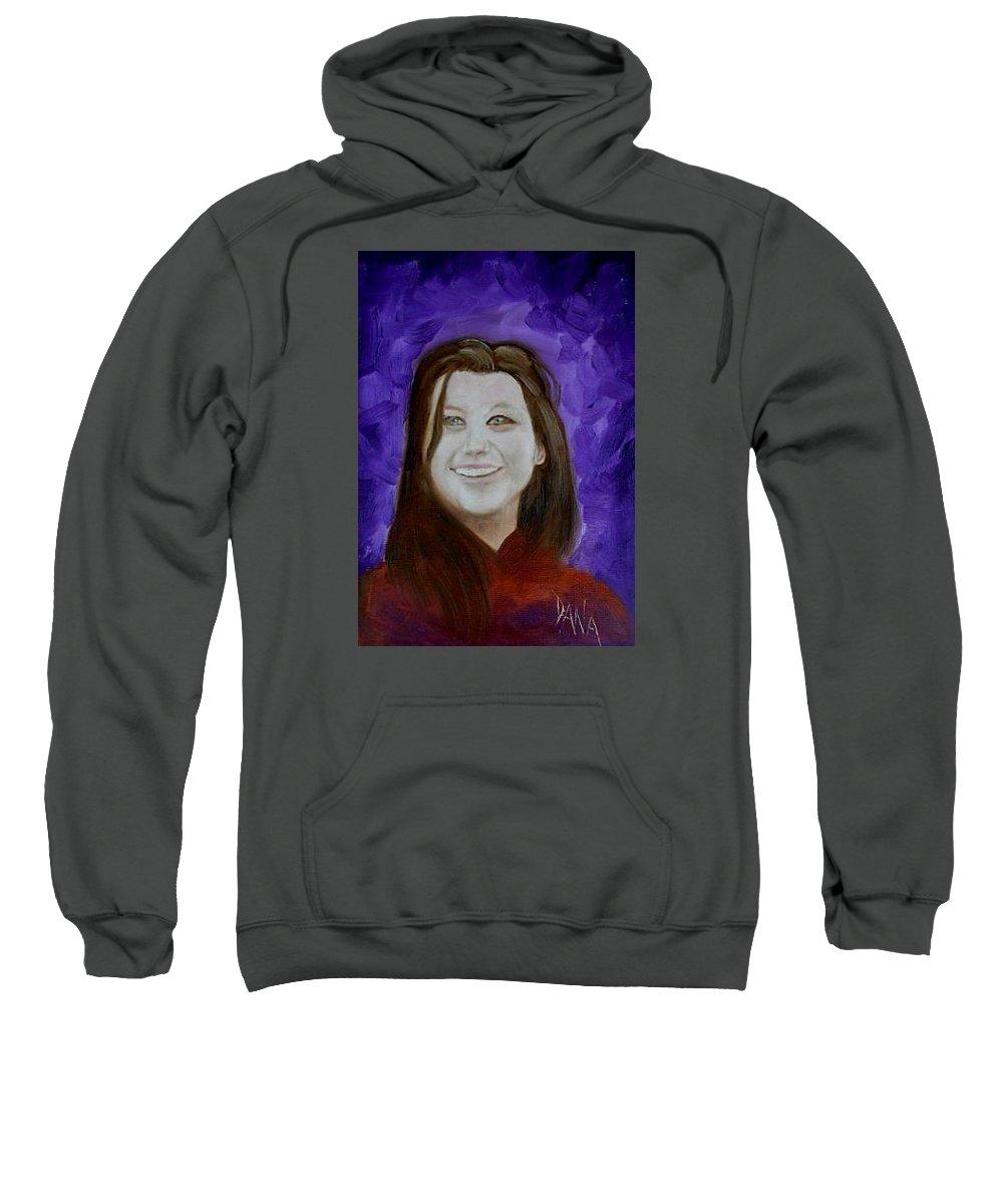Portrait Sweatshirt featuring the painting Cheyanna by Dana DeCecco