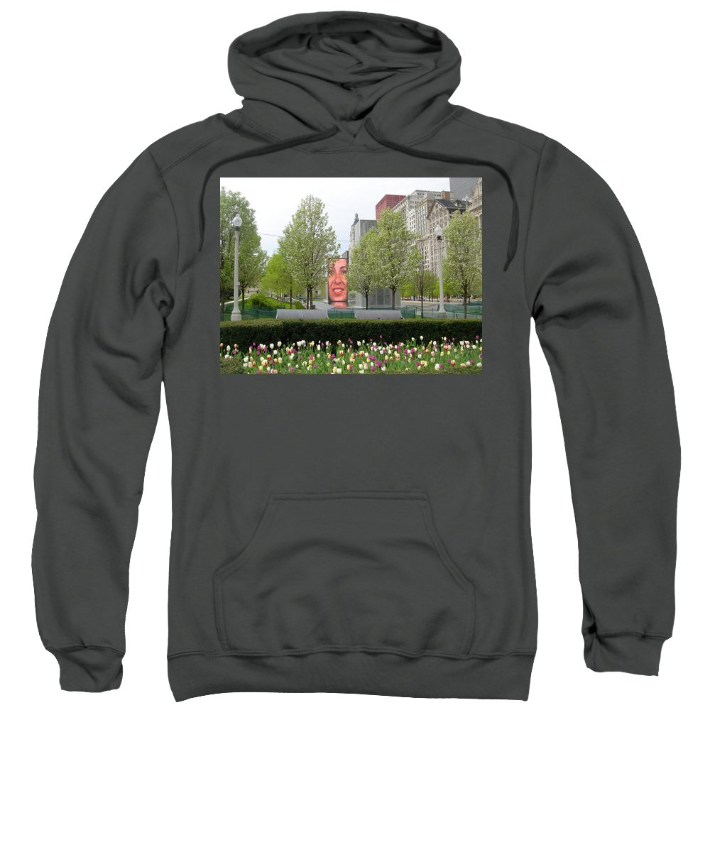 Chicago Sweatshirt featuring the photograph Chicago by Jean Macaluso