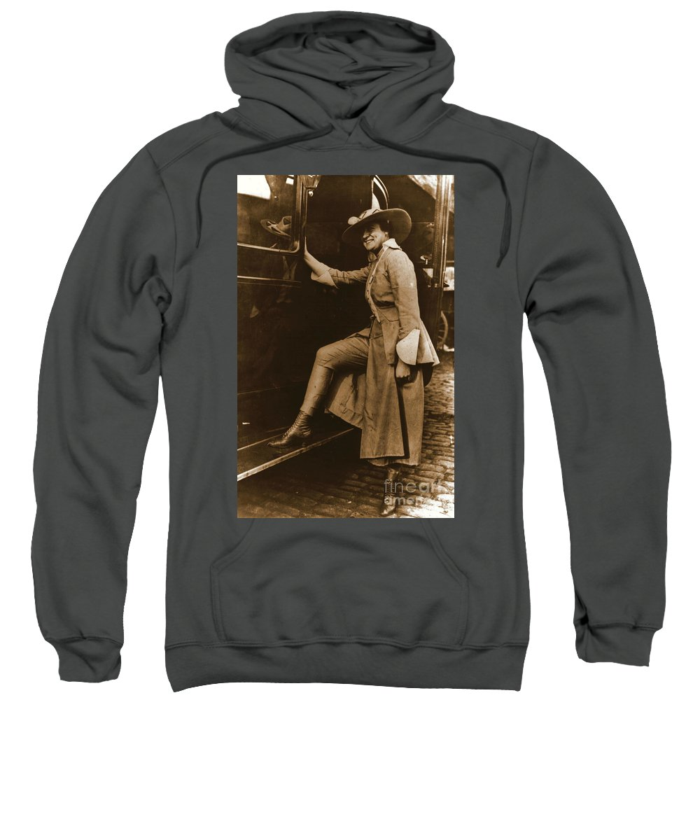 Chicago Suffragette Marching Costume Sweatshirt featuring the photograph Chicago Suffragette Marching Costume by Padre Art