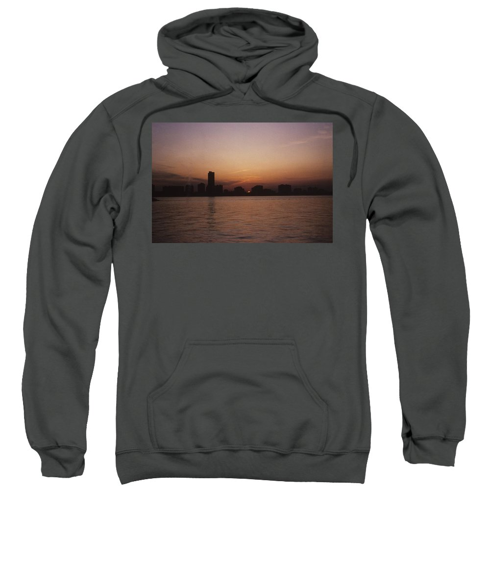 Chicago Sweatshirt featuring the photograph Chicago Sunset by Gary Wonning