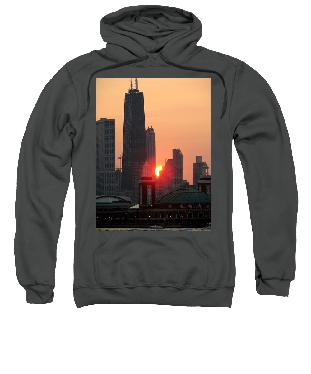 Photography Sweatshirt featuring the photograph Chicago Sunset by Glory Fraulein Wolfe