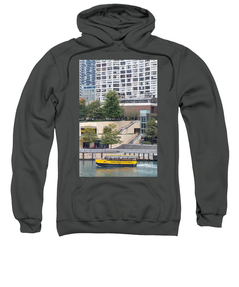 2014 Sweatshirt featuring the photograph Chicago Watertaxi by Jannis Werner
