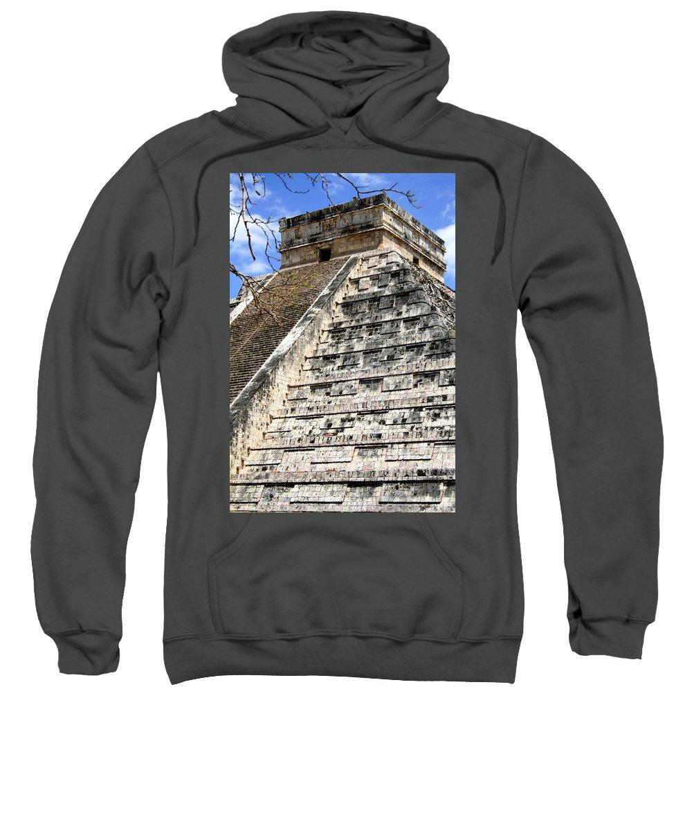 Chichen Itza Sweatshirt featuring the photograph Chichen Itza Up Close by Chris Brannen