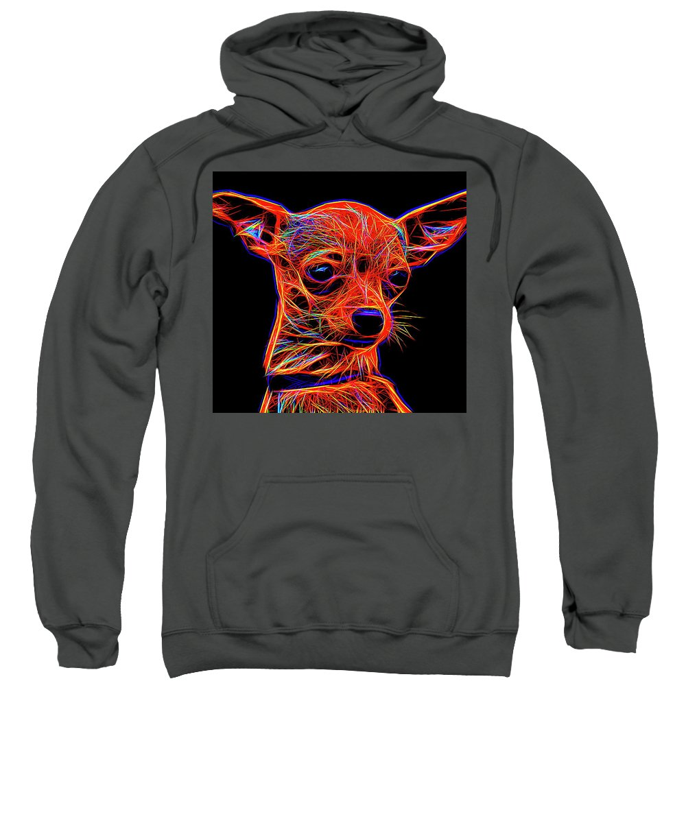 Chihuahua Sweatshirt featuring the digital art Chihuahua Dog by Alexey Bazhan