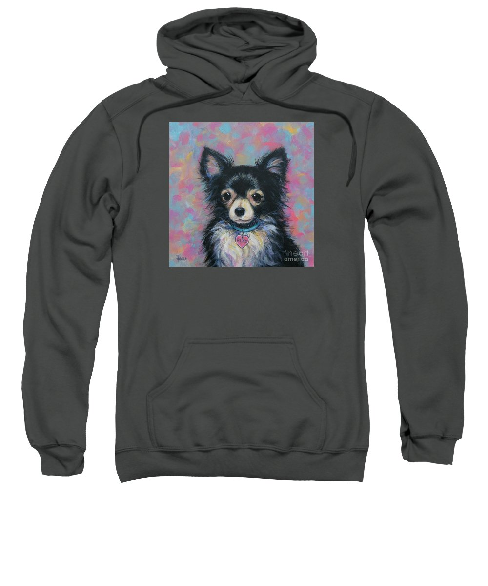 Chihuahua Sweatshirt featuring the painting Chihuahua by Vickie Fears