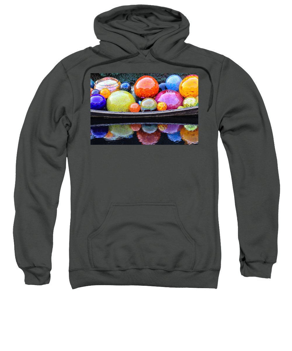Art Sweatshirt featuring the photograph Chihuly Exhibit At The Denver Botanic Gardens by Becky Canterbury