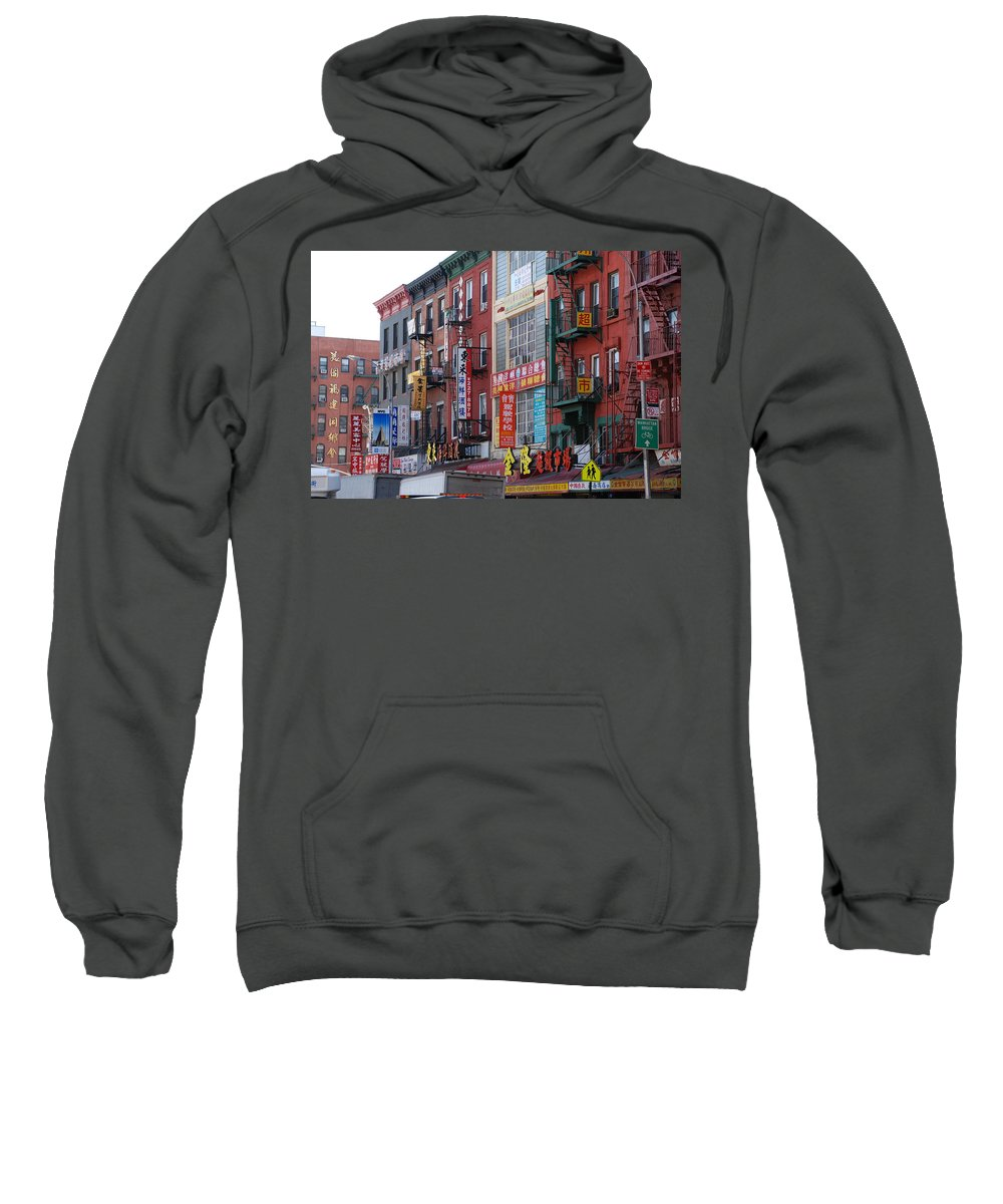 Architecture Sweatshirt featuring the photograph China Town Buildings by Rob Hans