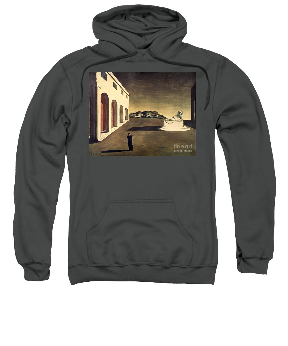 1913 Sweatshirt featuring the photograph Chirico: Melancolie, 1913 by Granger