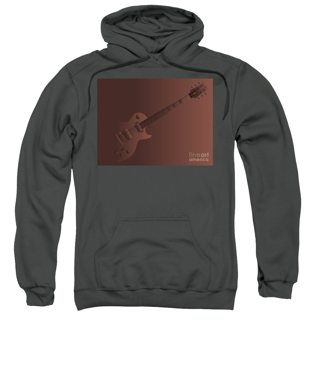 Guitar Sweatshirt featuring the digital art Chocolate Electric Guitar by Bigalbaloo Stock