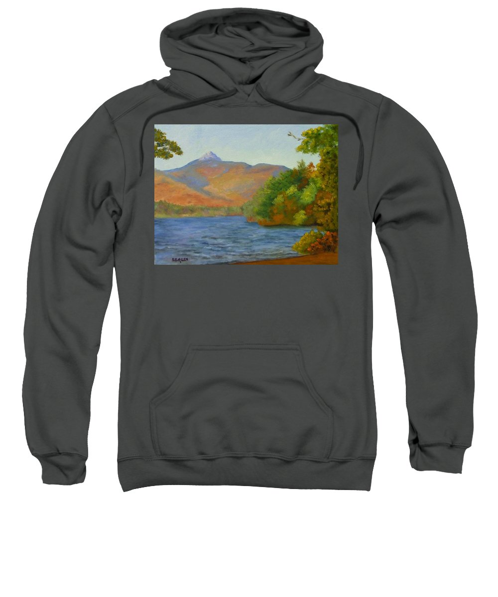 Mount Chocorua And Chocorua Lake Sweatshirt featuring the painting Chocorua by Sharon E Allen