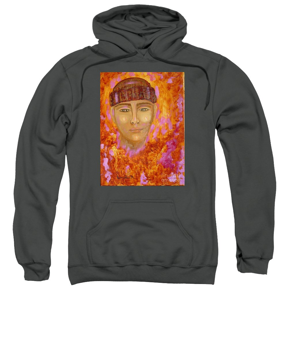 Portrait Sweatshirt featuring the painting Choices by Laurie Morgan