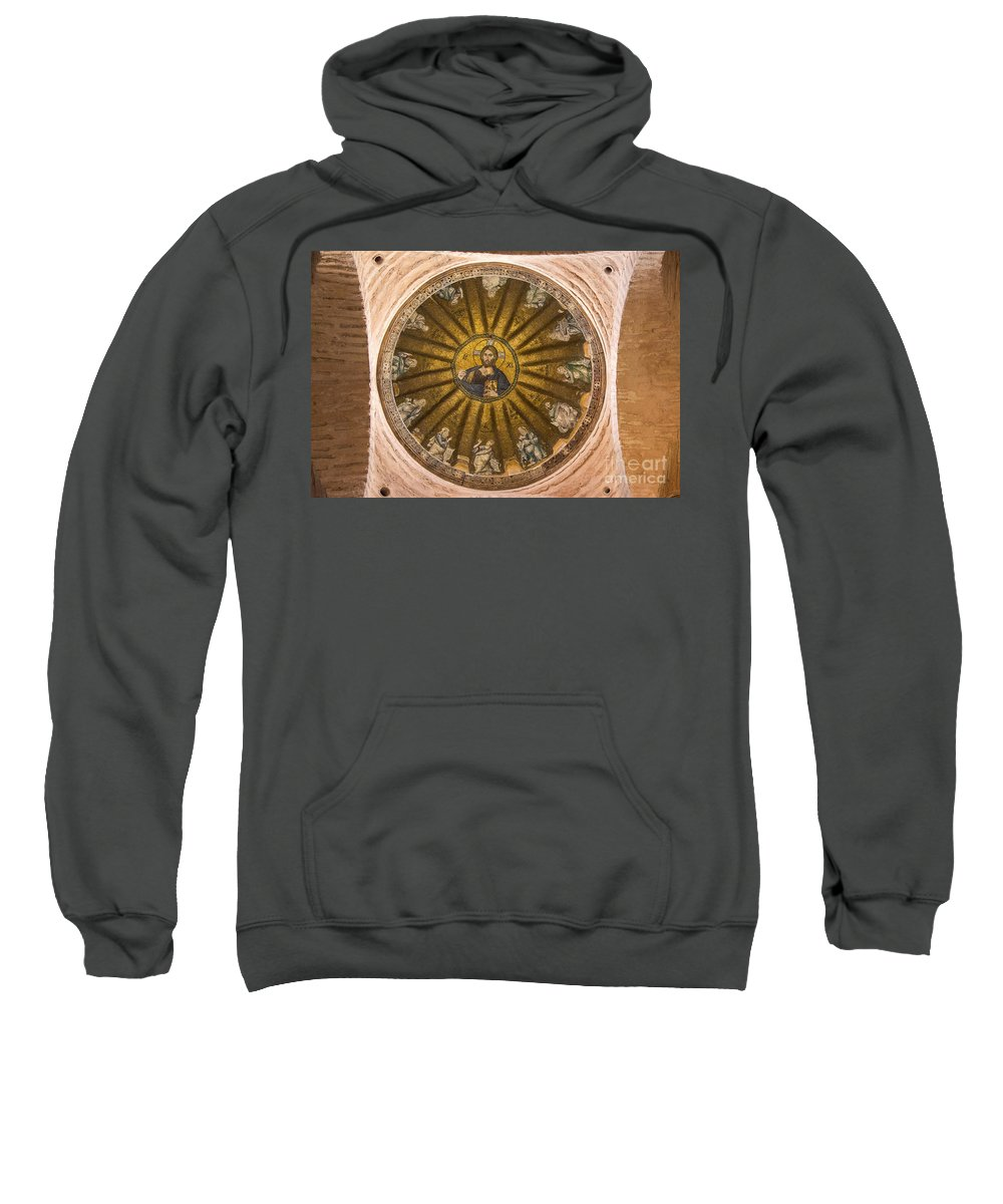 Fatih Sweatshirt featuring the photograph Christ Pantokrator by Bob Phillips