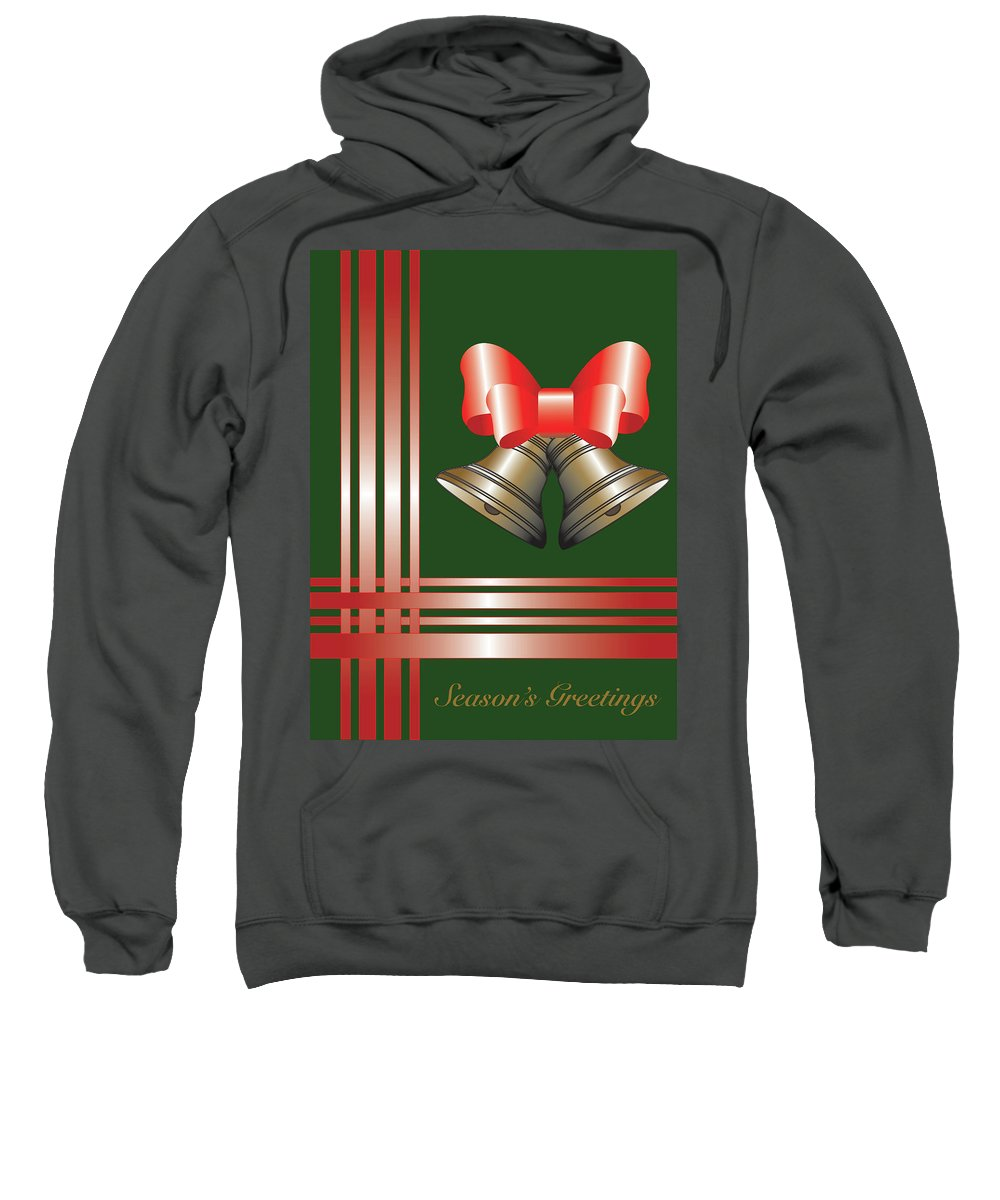 Christmas Sweatshirt featuring the digital art Christmas Bells 2 by Lois Boyce