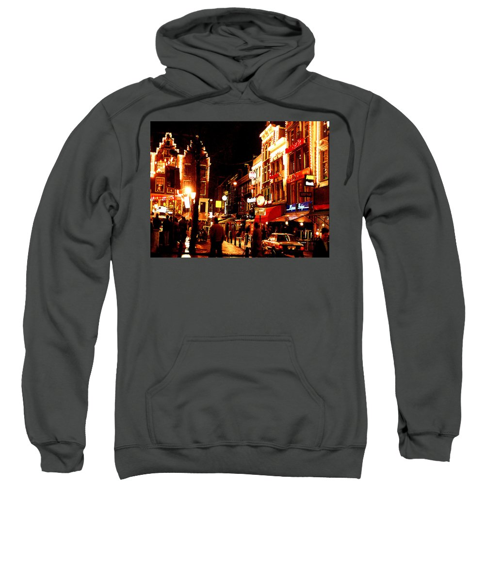 Night Sweatshirt featuring the photograph Christmas In Amsterdam by Nancy Mueller