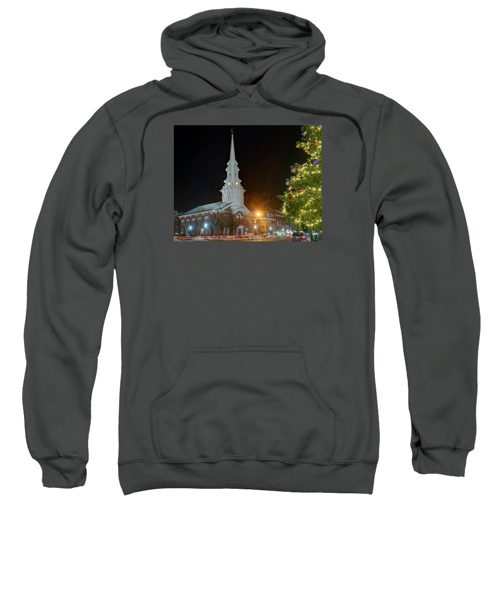Portsmouth Sweatshirt featuring the photograph Christmas In Market Square by Jeff Stallard